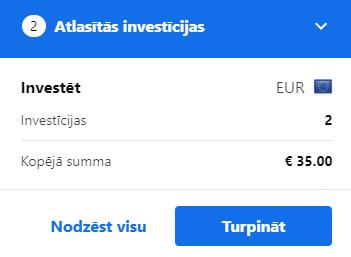 Atlasītās investīcijas